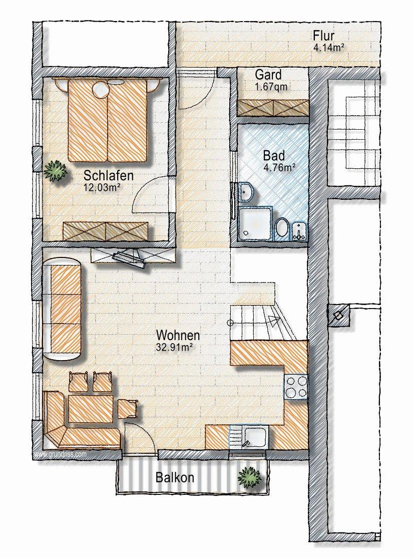 Grundriss 2 . Obergeschoss