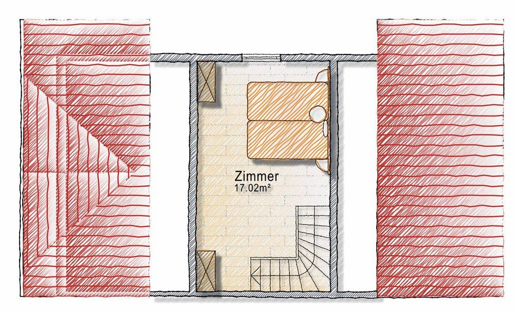 Grundriss Plose Dachgeschoss