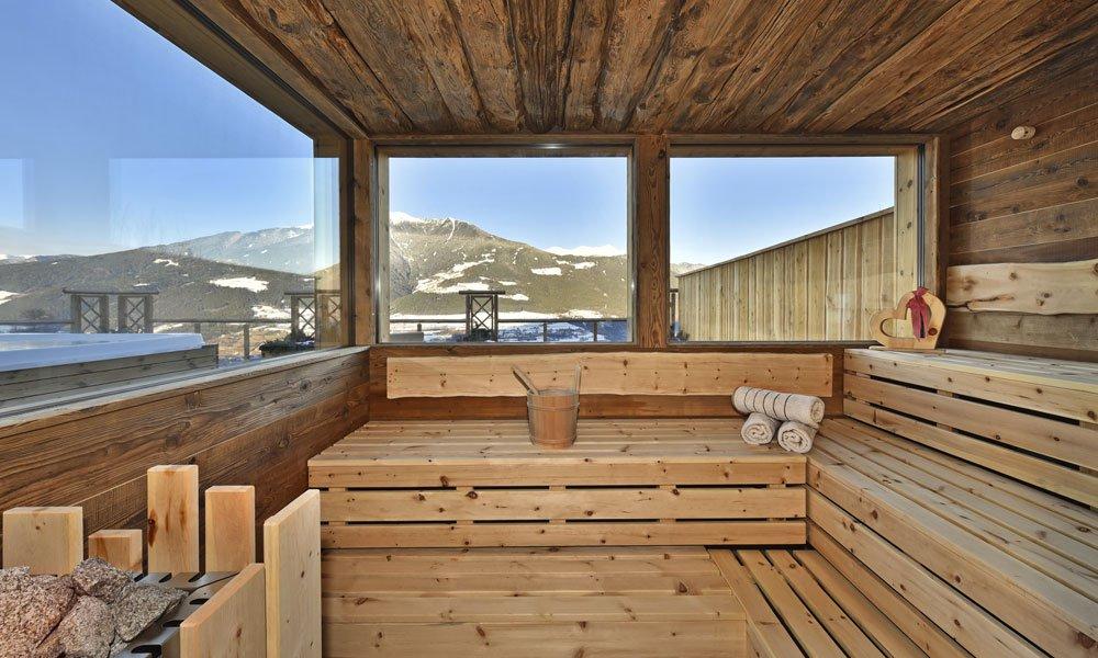Finnische Sauna mit Ausblick
