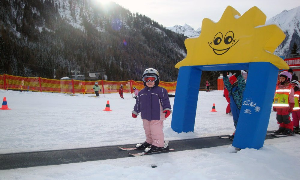 Skiing in the ski resort Bressanone-Plose