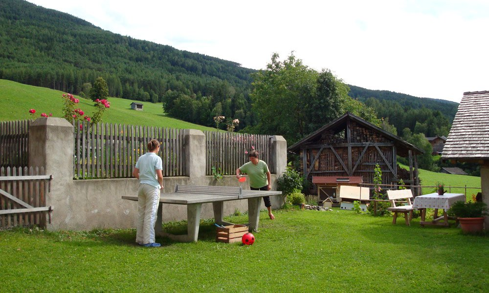 Fun and games at the farm Schnagererhof on Mount Plose